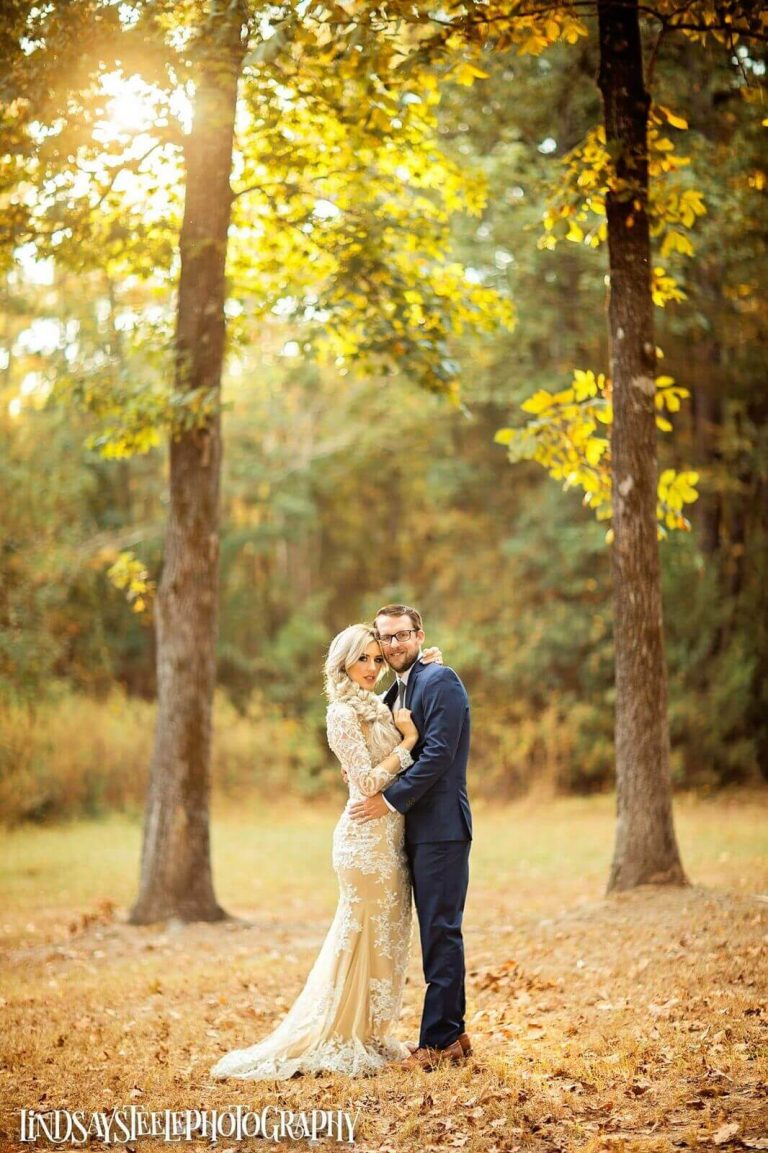 outdoor wedding photos at Wylde Acres in Longview, Texas